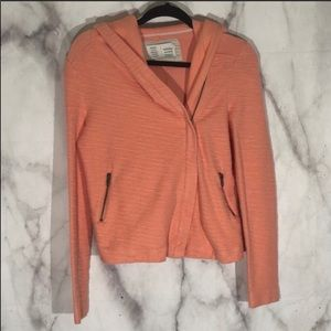 Saturday Sunday shawl Moto jacket in peach sz. XS